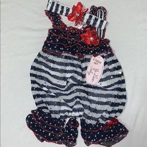 Infant Fourth of July jumper
